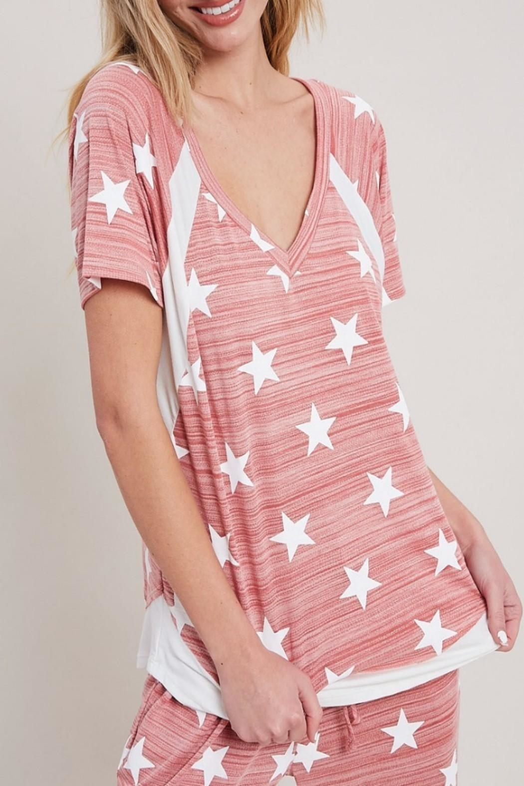 eesome Star Print Top - Side Cropped Image