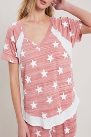 eesome Star Print Top - Front cropped