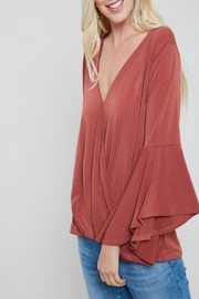 eesome Surplice Bell-Sleeve Top - Product Mini Image