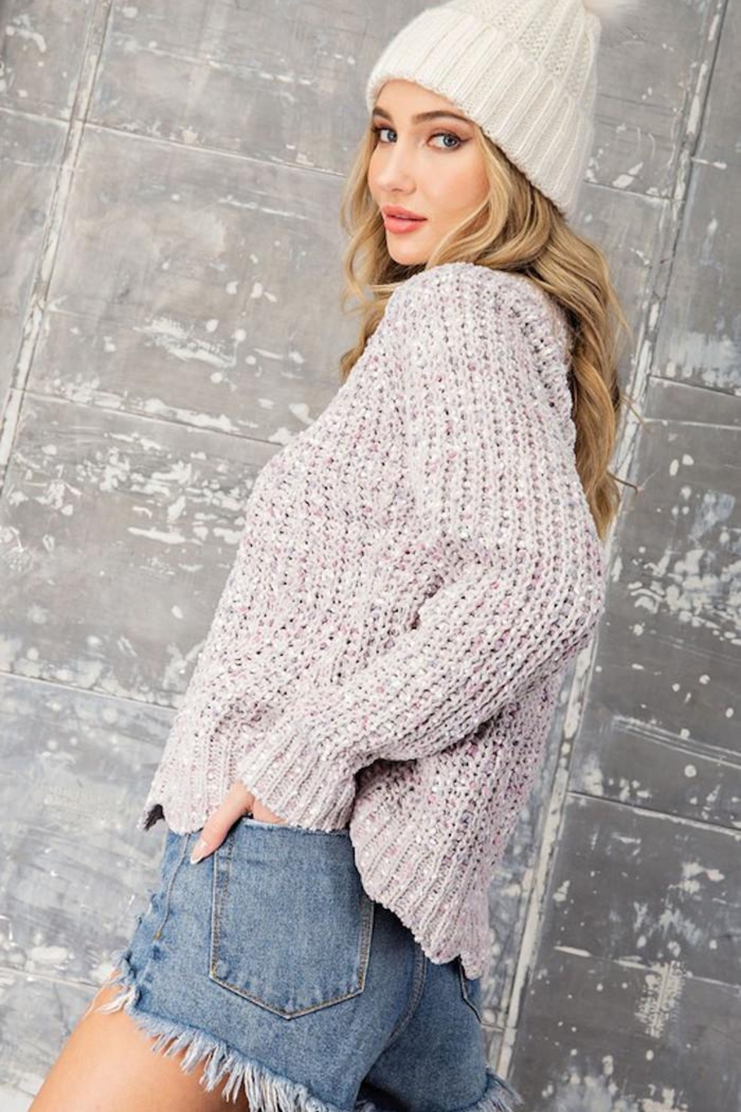 eesome Sweet Dreams Sweater - Back Cropped Image