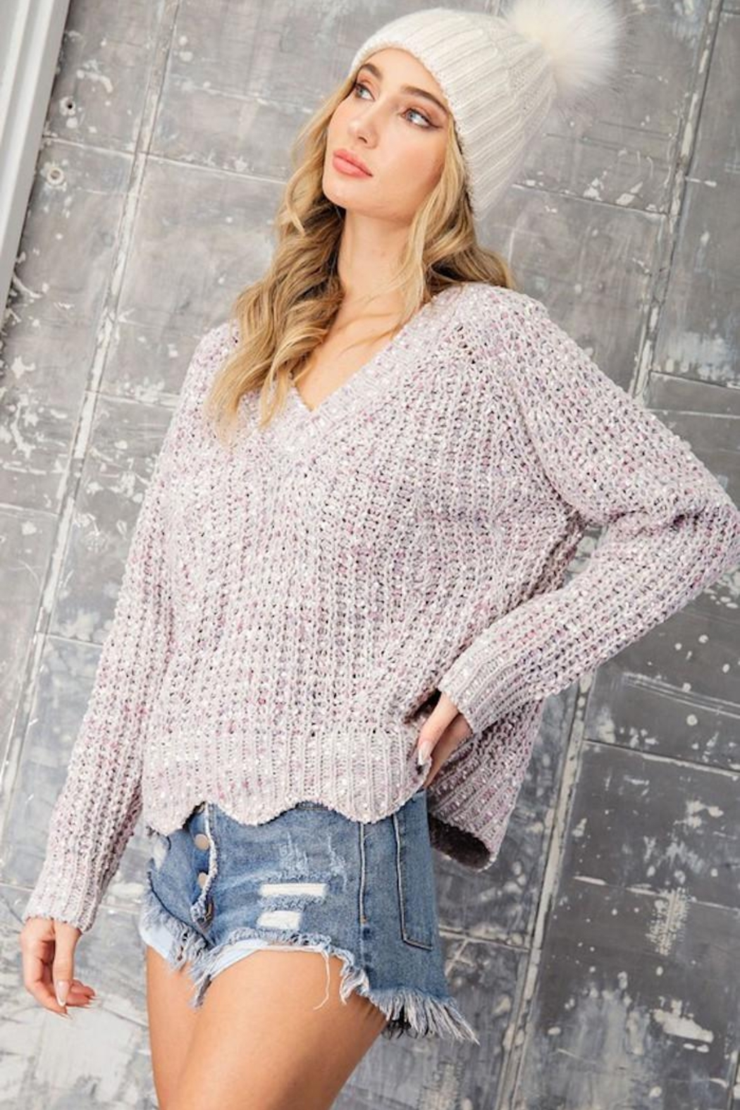 eesome Sweet Dreams Sweater - Side Cropped Image