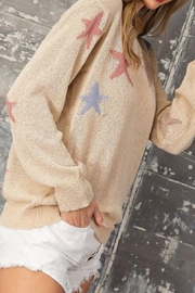 eesome Tan Star Sweater - Front full body