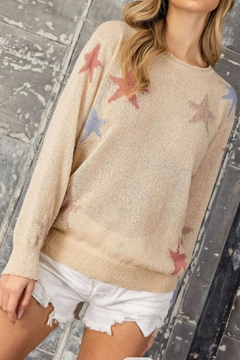 eesome Tan Star Sweater - Product List Image