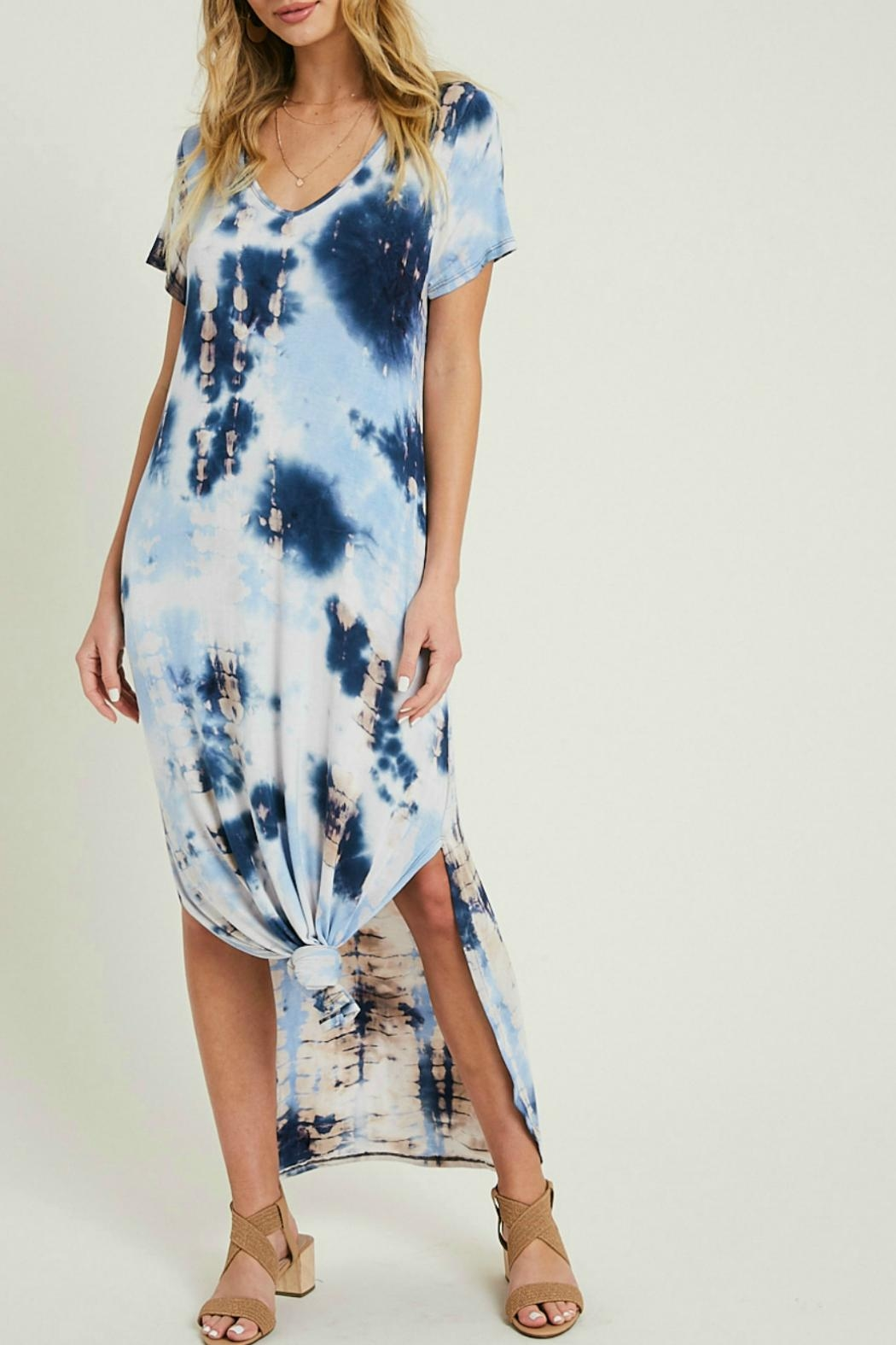 eesome Tie Dye Maxi Dress - Front Full Image