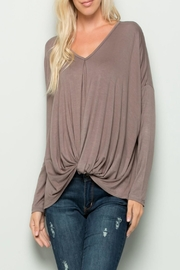 eesome Twisted V-Neck Top - Product Mini Image