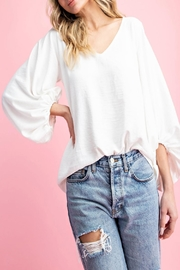 eesome V-Neck Puff-Sleeve Blouse - Product Mini Image