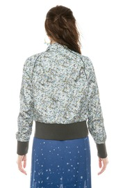 Members Only Floral  Bomber Jacket - Back cropped