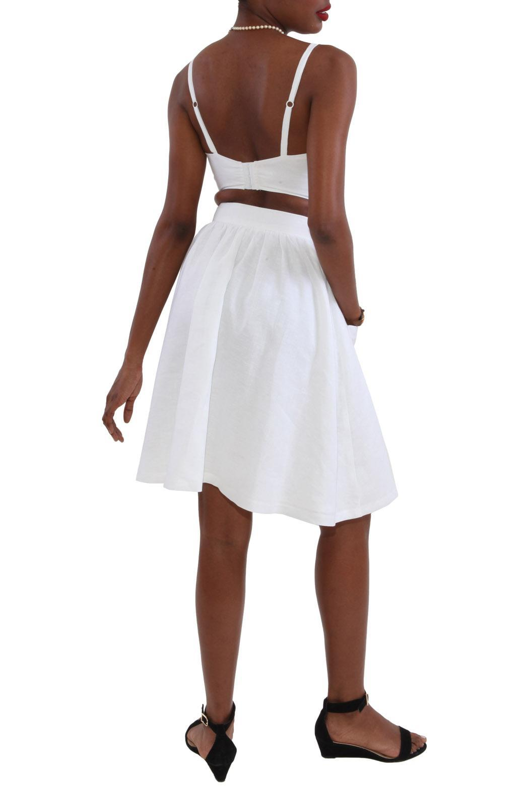 Royal Jelly Harlem Copa Linen Top - Back Cropped Image