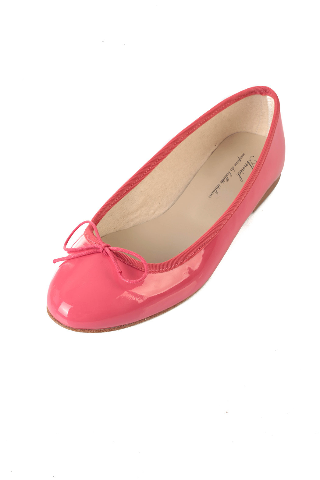Anniel Bright Pink Ballerinas - Front Cropped Image