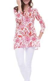 Roberta Freymann Floral Summer Tunic - Front cropped