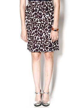 Royal Jelly Harlem Burgundy Pencil Skirt - Product List Image