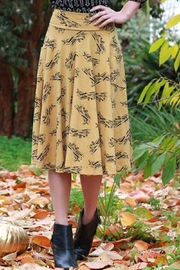 Effie's Heart Mustard Airplane Skirt - Product Mini Image