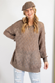 easel  Effortless Open-Knit Sweater - Product Mini Image