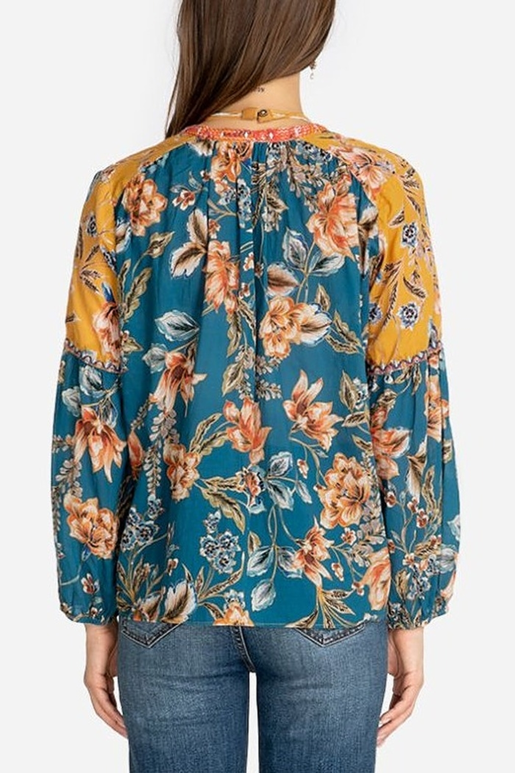 Johnny Was Effortless Peasant Blouse - Front Full Image
