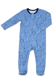 Egg  by Susan Lazar Azure Woodland Zipper-Footie - Front cropped