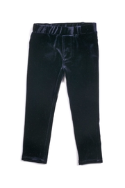 Egg  by Susan Lazar Navy Velvet Pants - Front cropped