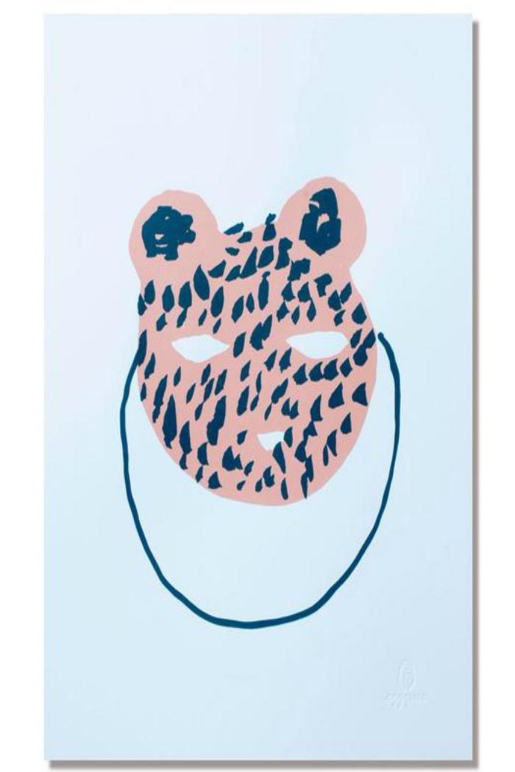 Egg Press Bear Mask Print - Front Cropped Image