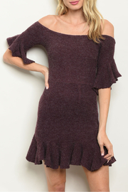 luxxel Eggplant Flare Dress - Product Mini Image