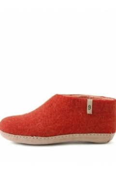 Egos Copnehagen Wool Slipper Red - Alternate List Image