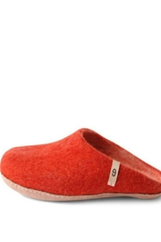 Egos Copnehagen Wool Slipper Red - Front cropped