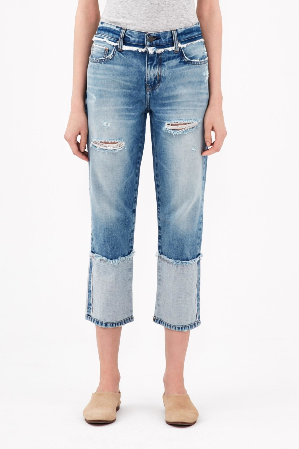 ei8ht dreams Reverse Selvedge Straight Crop - Front Cropped Image