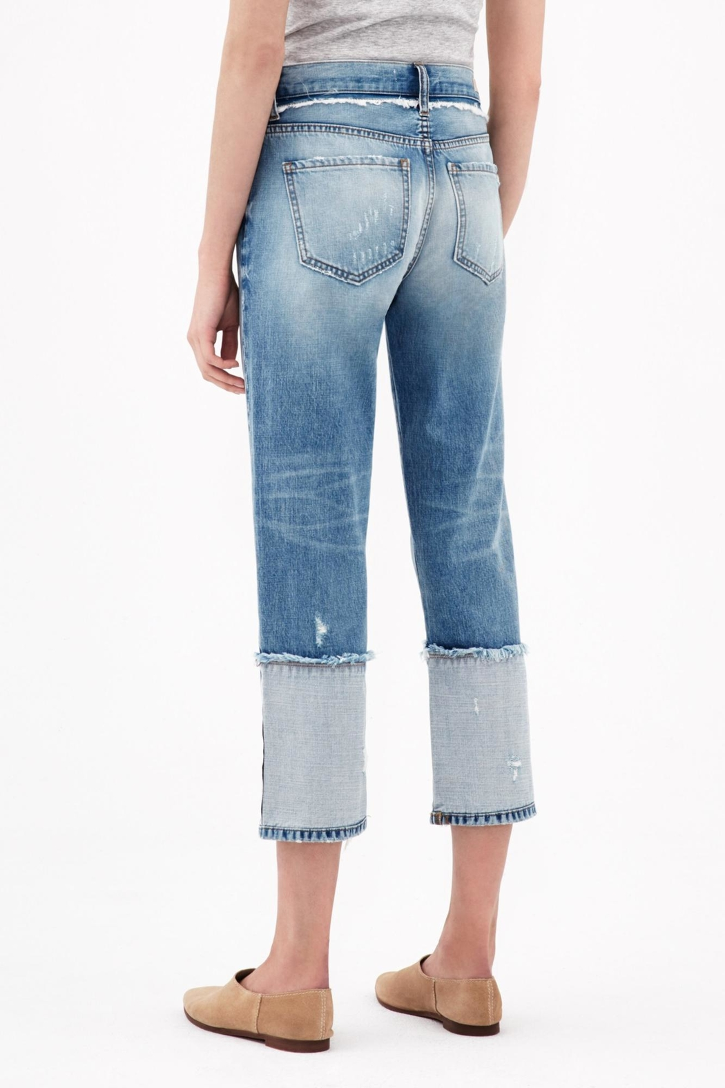ei8ht dreams Reverse Selvedge Straight Crop - Front Full Image