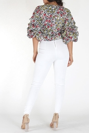 Eien Floral Gingham Top - Side cropped