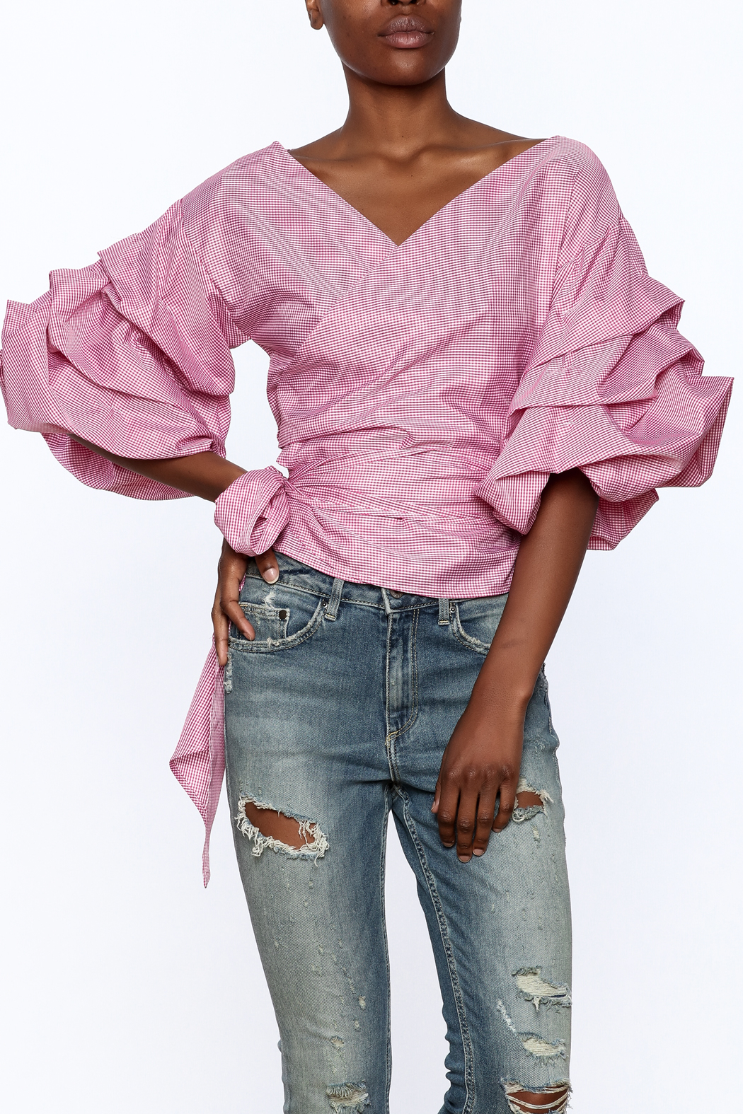 Eien Puff Sleeve Top - Front Cropped Image