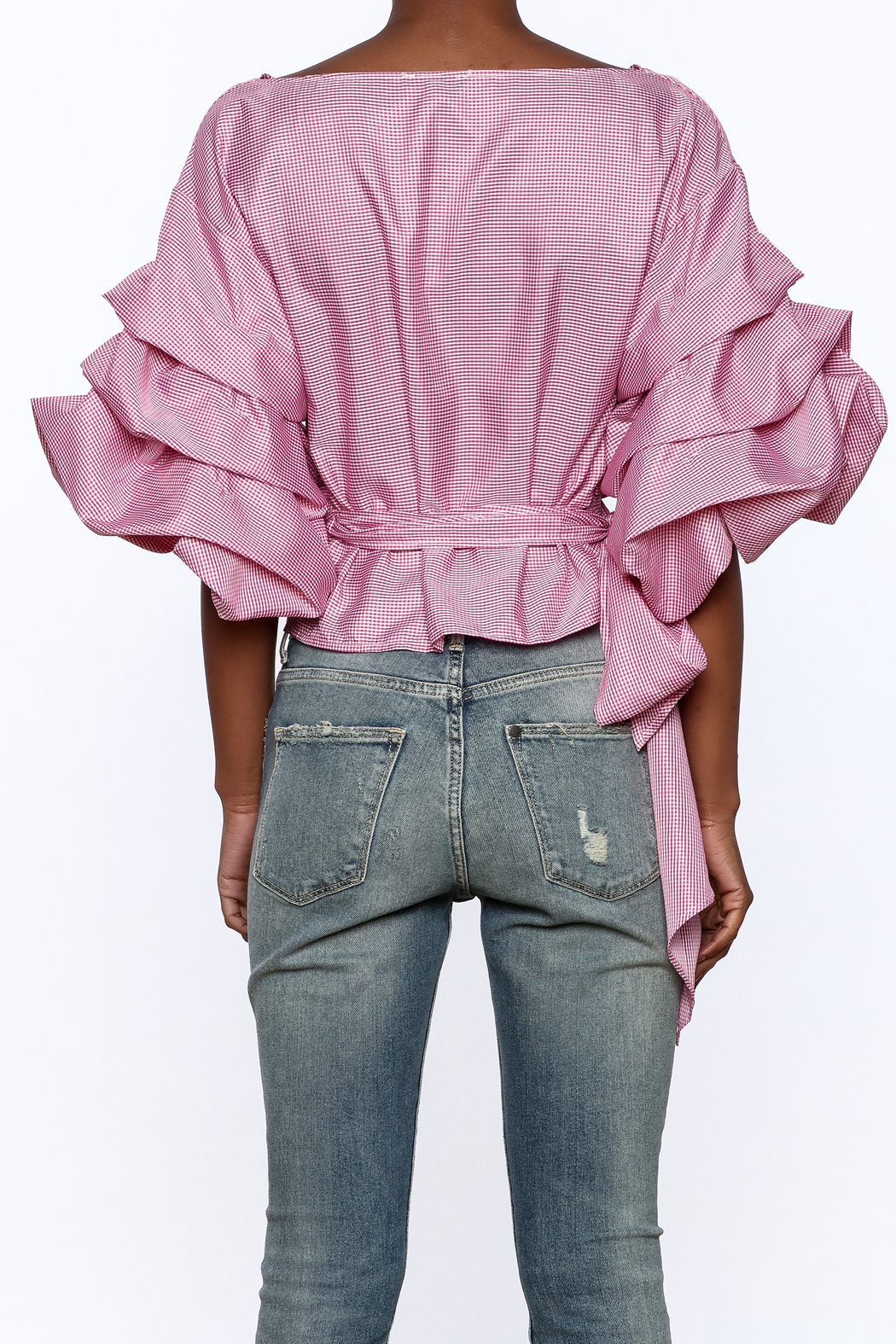 Eien Puff Sleeve Top - Back Cropped Image