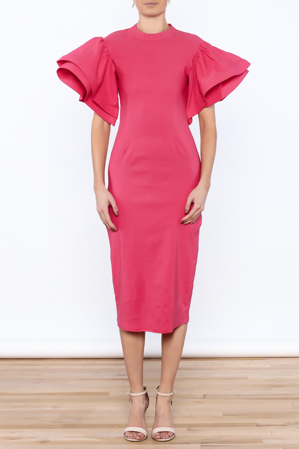 7685caedaa3 Eien Ruffled Midi Dress from South Carolina by Holictique — Shoptiques