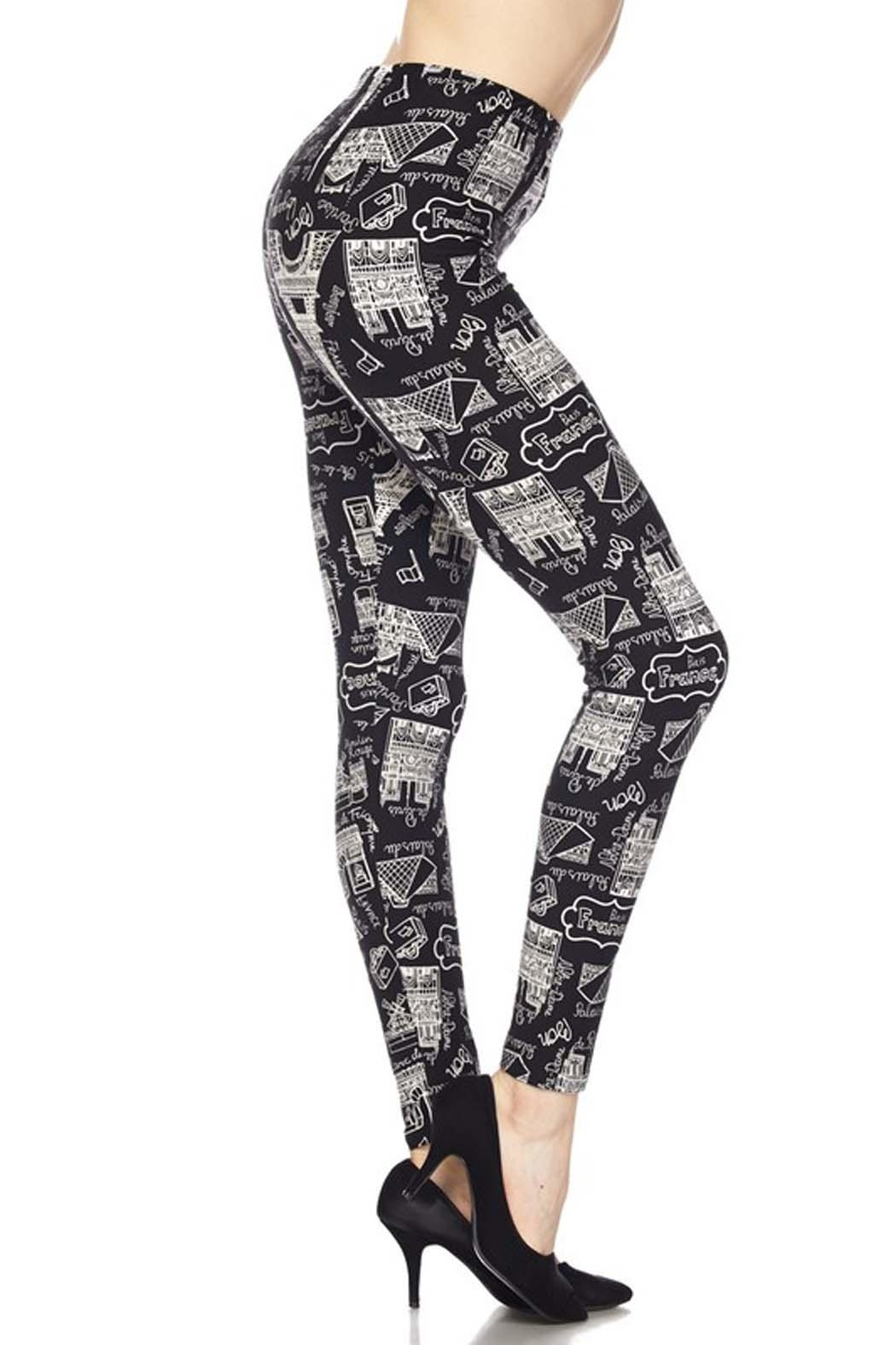 New Mix Eiffel Tower Legging - Front Full Image