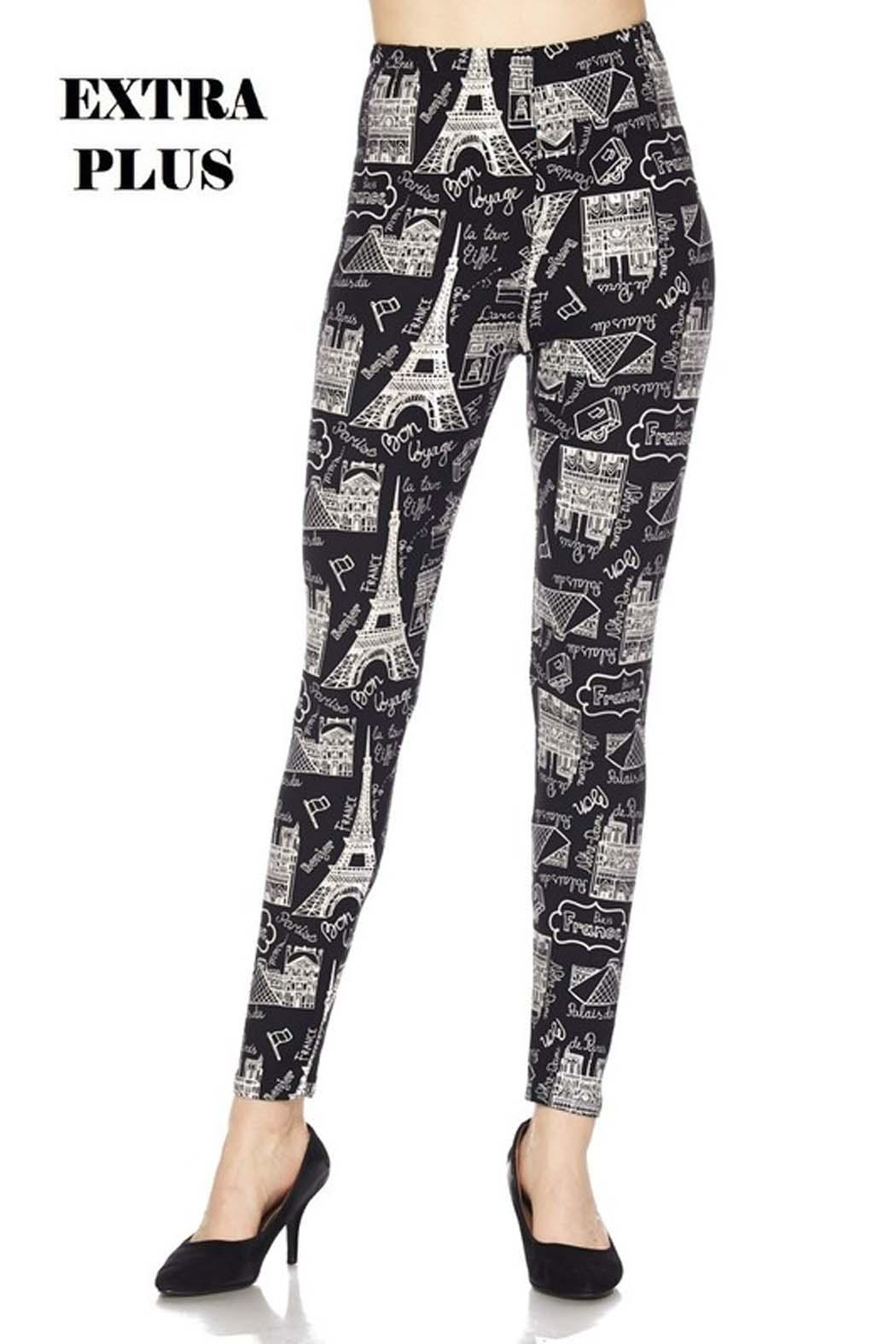 New Mix Eiffel Tower Legging - Front Cropped Image