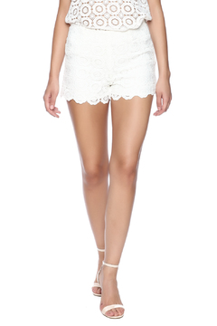 Eight Sixty White Eyelet Shorts - Product List Image