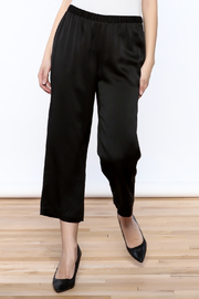 Eileen Fisher Black Silk Pant - Product Mini Image