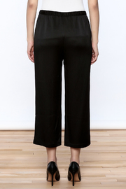 Eileen Fisher Black Silk Pant - Back cropped