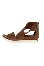 Eileen Fisher Camel Nubuck Sport Sandal - Front cropped