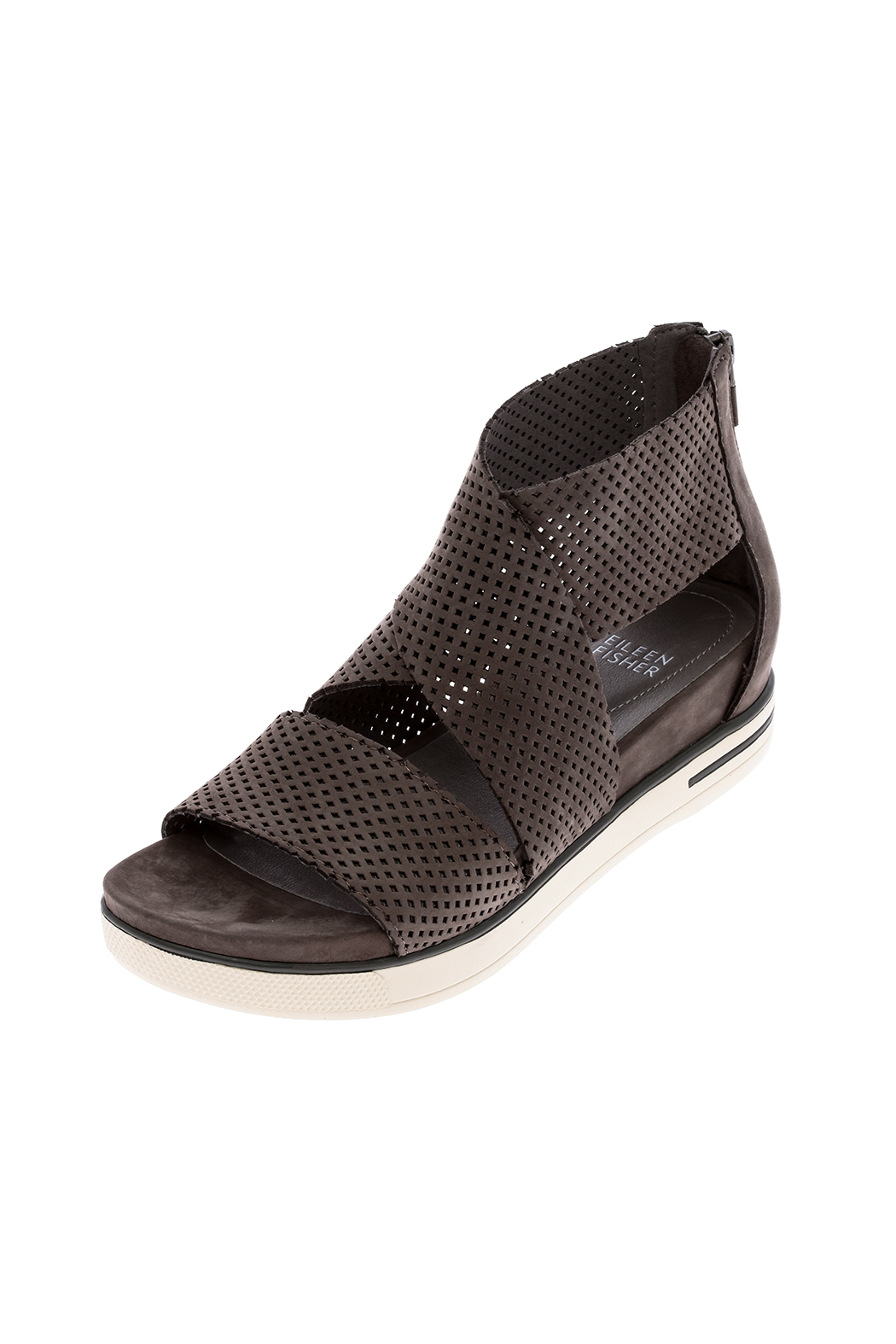 Eileen Fisher Graphite Sport Sandal - Back Cropped Image