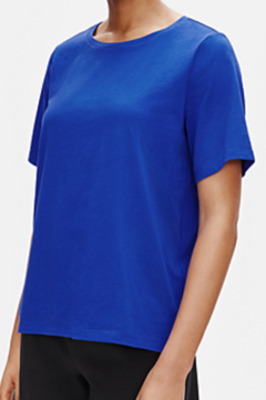 Eileen Fisher ORGANIC COTTON JERSEY CREW NECK TEE - Product List Image