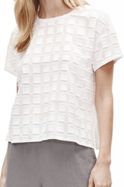 Eileen Fisher Organic Cotton Textured Round-Neck Top - Product Mini Image