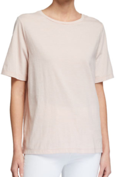 Eileen Fisher Striped Organic Cotton Short-Sleeve Crewneck Tee - Product List Image