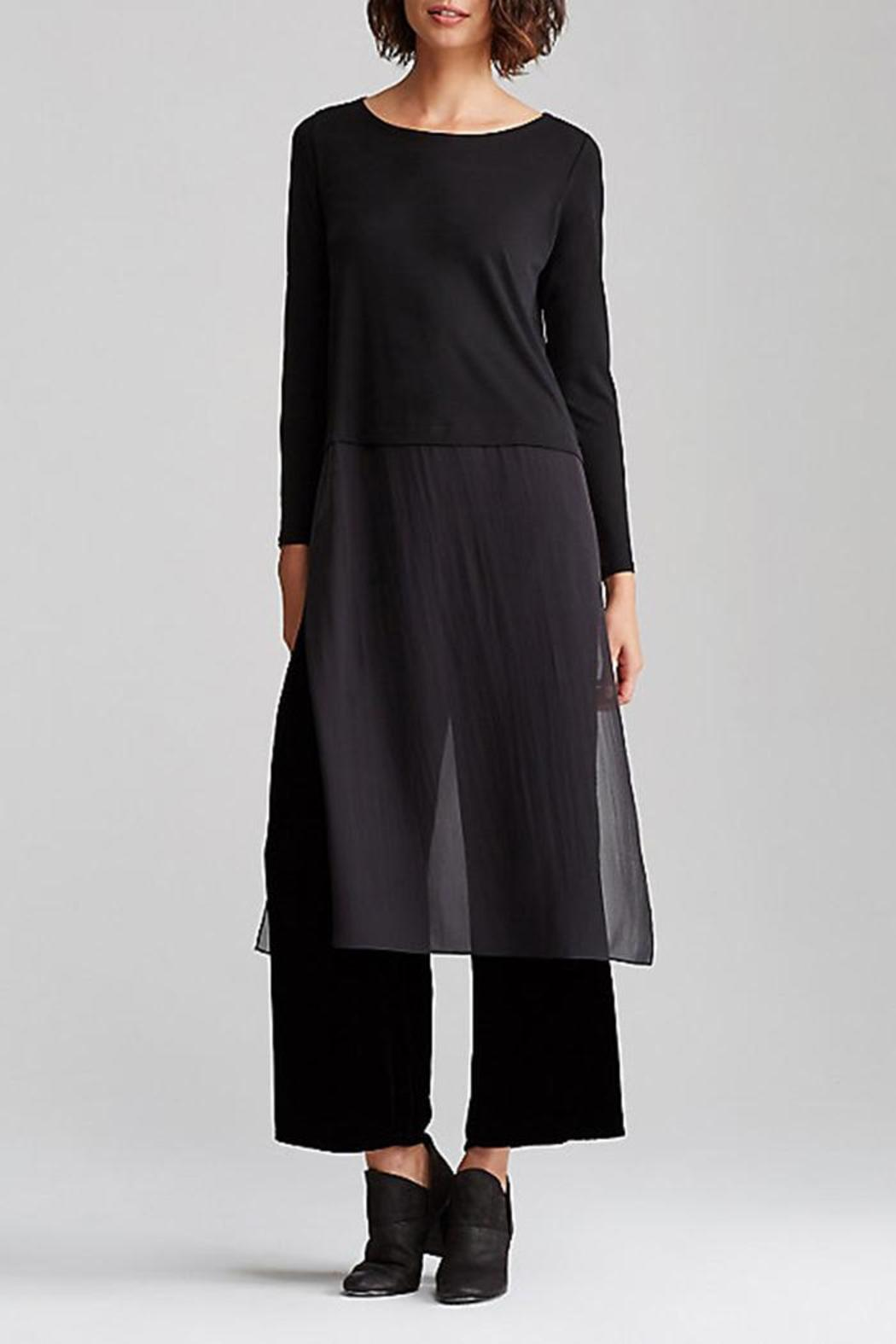 Eileen Fisher Ballet Neck Duster Dress - Front Cropped Image