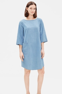 Eileen Fisher Chambray Denim Chemis - Product List Image