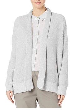 Eileen Fisher Grey Knit Cardigan - Product List Image