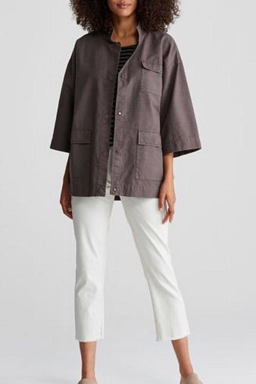 Eileen Fisher Stand Collar Jacket - Main Image