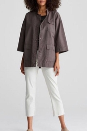 Eileen Fisher Stand Collar Jacket - Product Mini Image