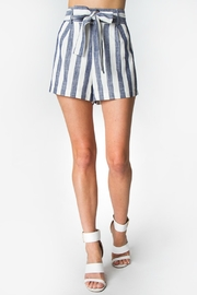 Sugar Lips Elaine Striped Shorts - Front cropped