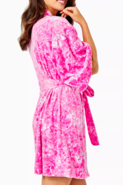 Lilly Pulitzer  Elaine Velour Robe - Side cropped
