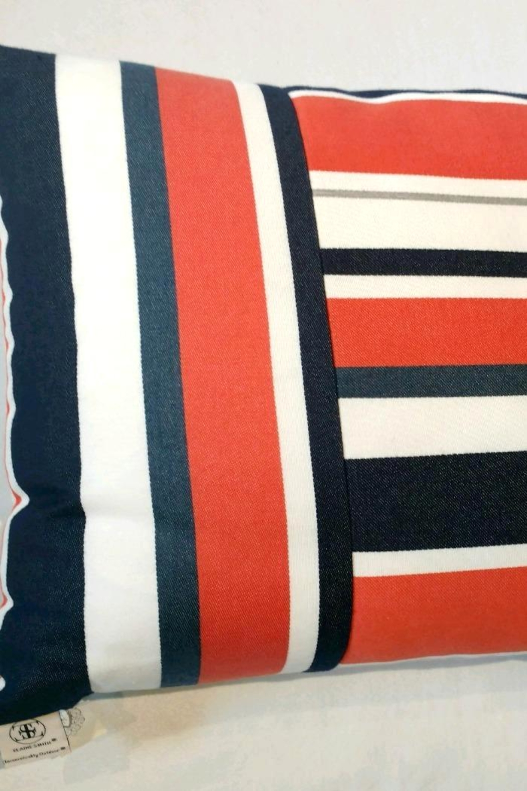 Elaine Smith Riviera Stripe Pillow - Side Cropped Image