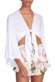 Elan 3/4 Bell Sleeve Top - Front cropped