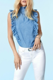 Elan Antonella Denim Top - Product Mini Image